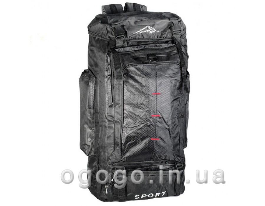 Черный туристический походный рюкзак R00165