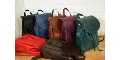 Кожаные женские рюкзаки ручной работы