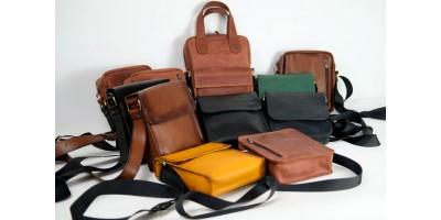 Кожаные мужские сумки ручной работы
