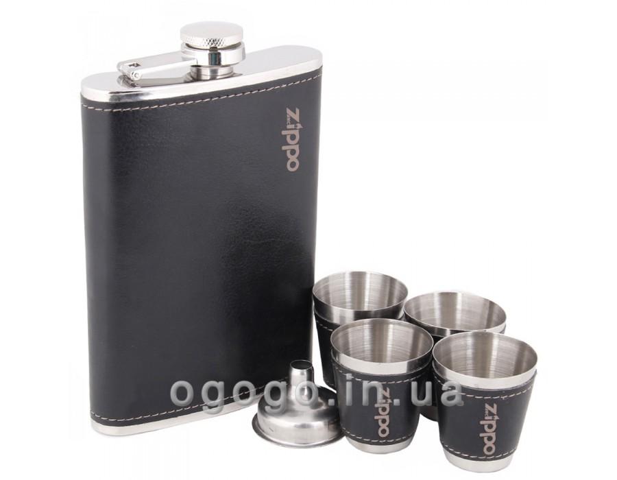 Недорогая фляга и 4 стаканчика в подарочной упаковке FL00064
