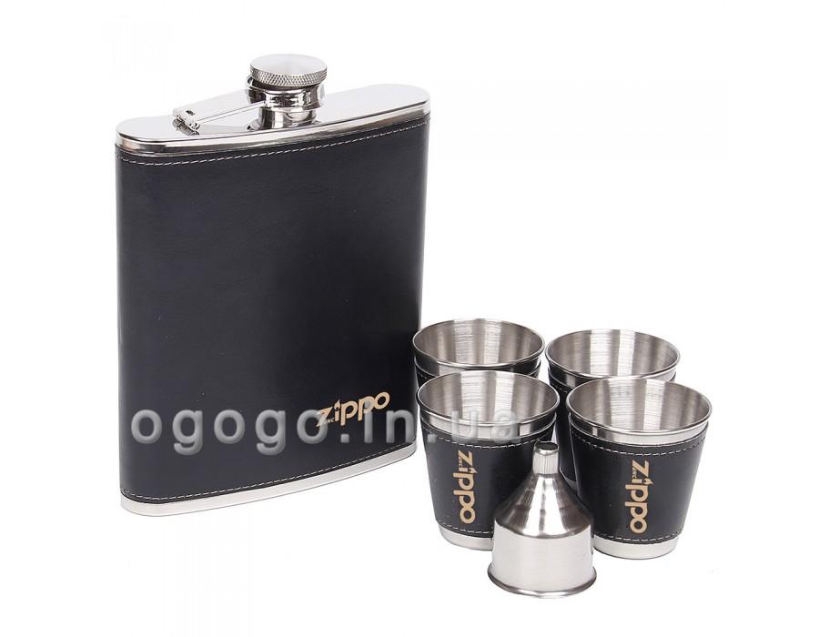 Черная фляга в подарочной упаковке FL00069