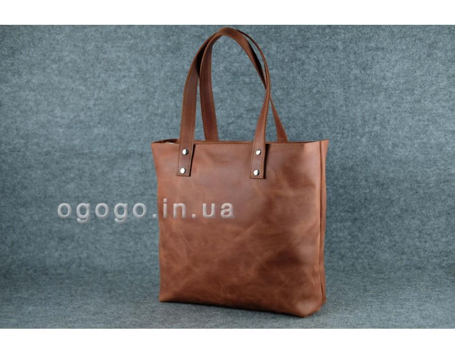 c2ec05ad9481 Большая кожаная женская сумка шопер K00009-7