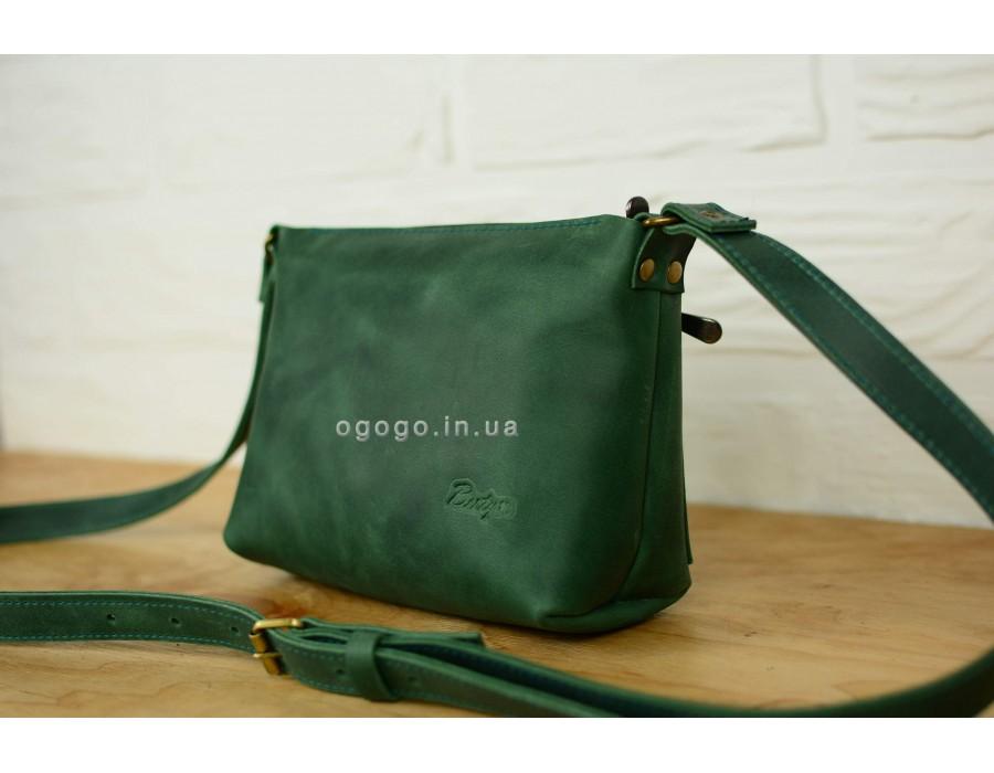 070b2b3e6442 Летняя зеленая кожаная сумка ручная работа K00002-3