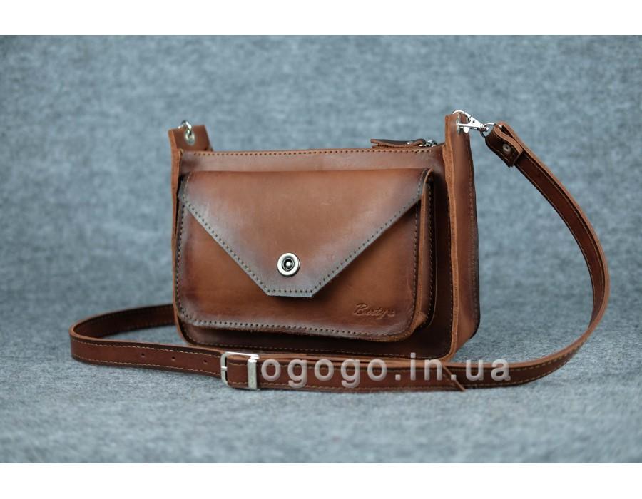 0e8a28077b3a Купить качественная женская сумка из итальянской кожи коричневая ...