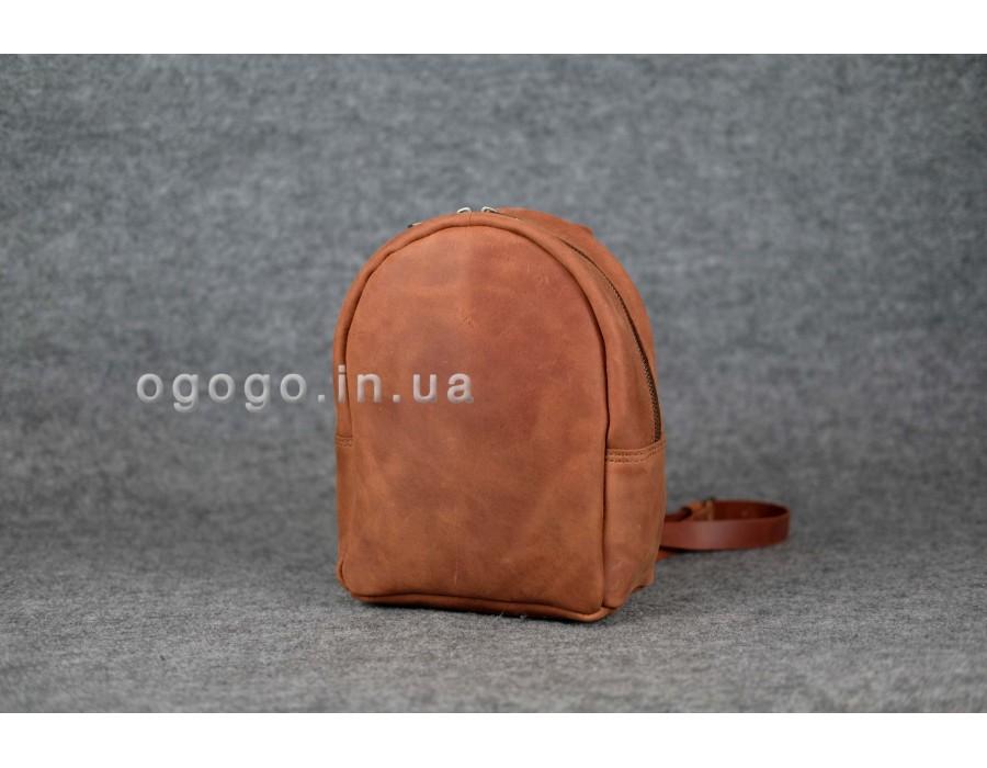 Кожаный рюкзак небольшого размера K00017-10