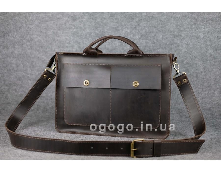 ce4431a2c7e3 Мужская сумка через плечо из кожи Crazy Horse ручной работы K00024-9