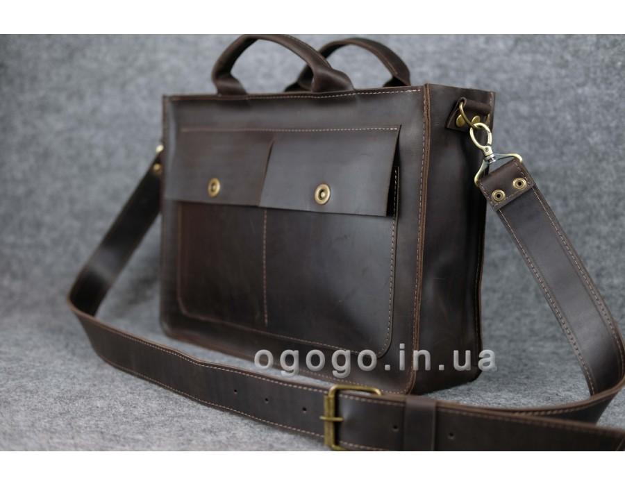 391694ea6a03 Мужская сумка через плечо из кожи Crazy Horse ручной работы K00024-9