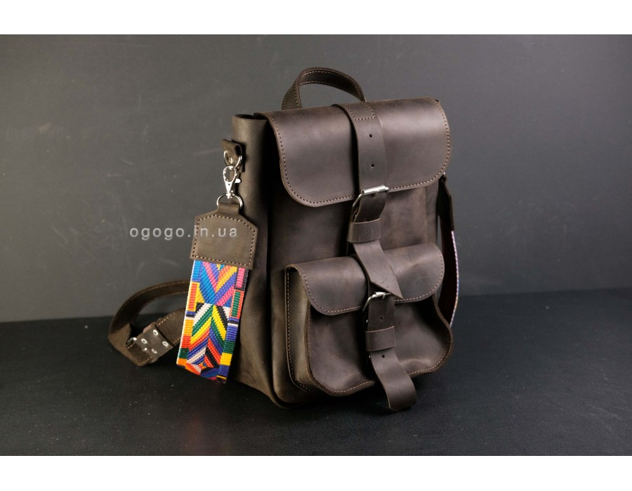 Рюкзак сумка трансформер натуральная кожа K00025-1