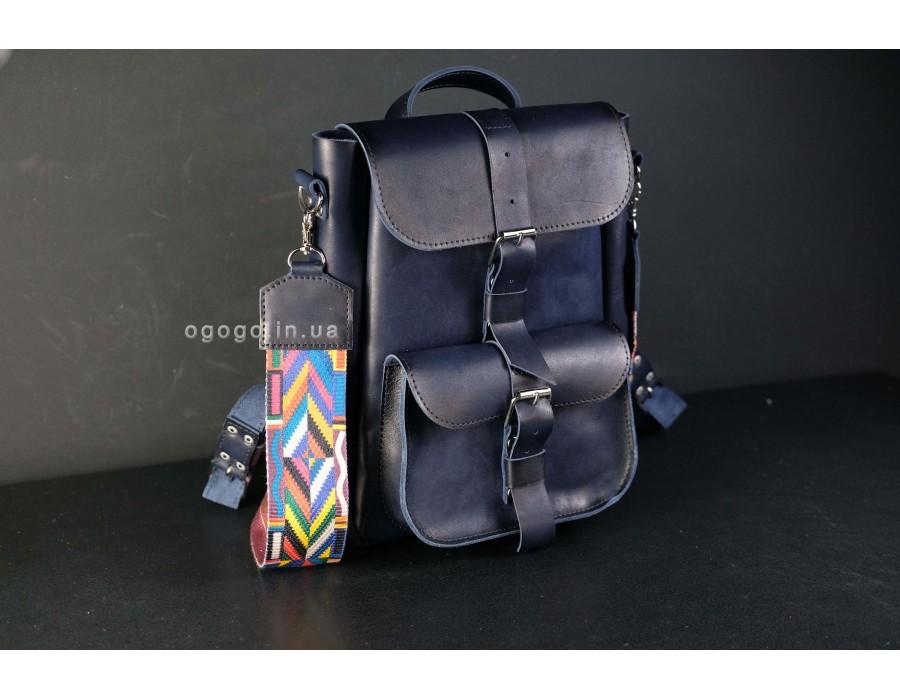 Кожаный натуральный рюкзачок K00025-4