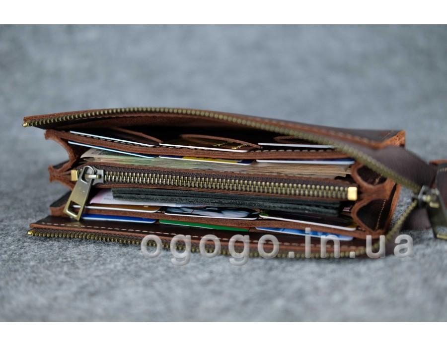94fe1b7b4c60 Кожаные кошельки ручной работы K00026-10