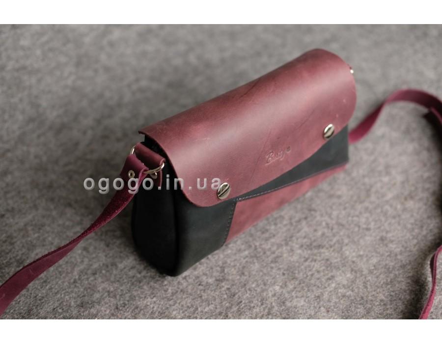 ac9e53150e78 Кожаный женский клатч ручной работы К00033-16