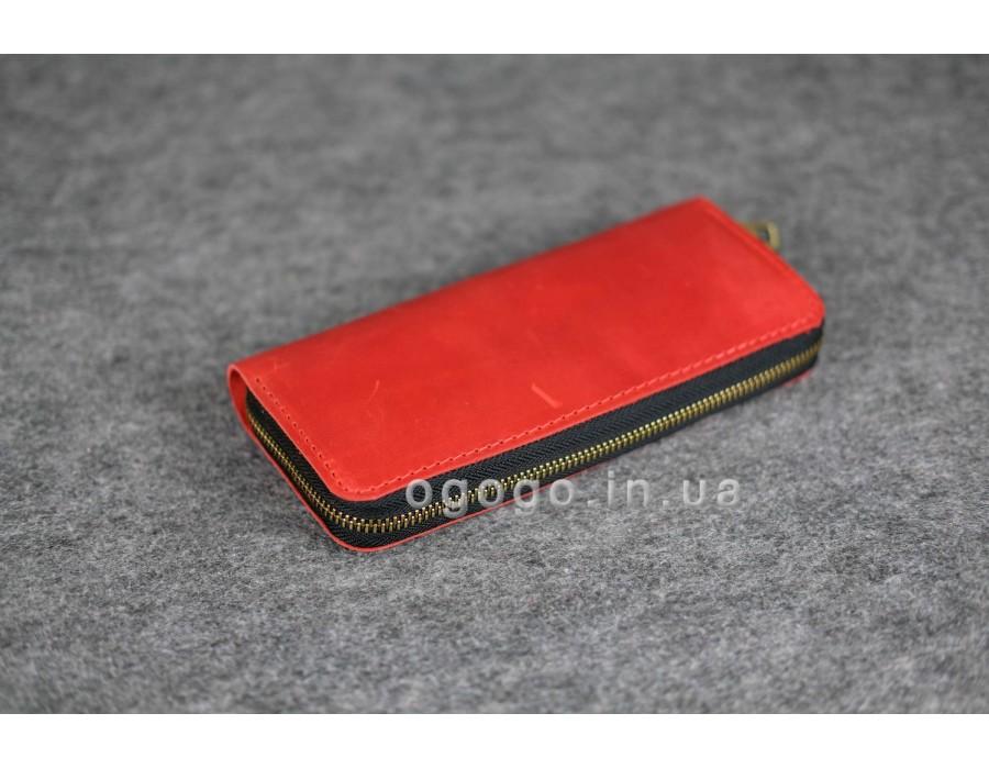 b74ef37e8a32 Стильный кожаный женский кошелек на молнии K00035-4