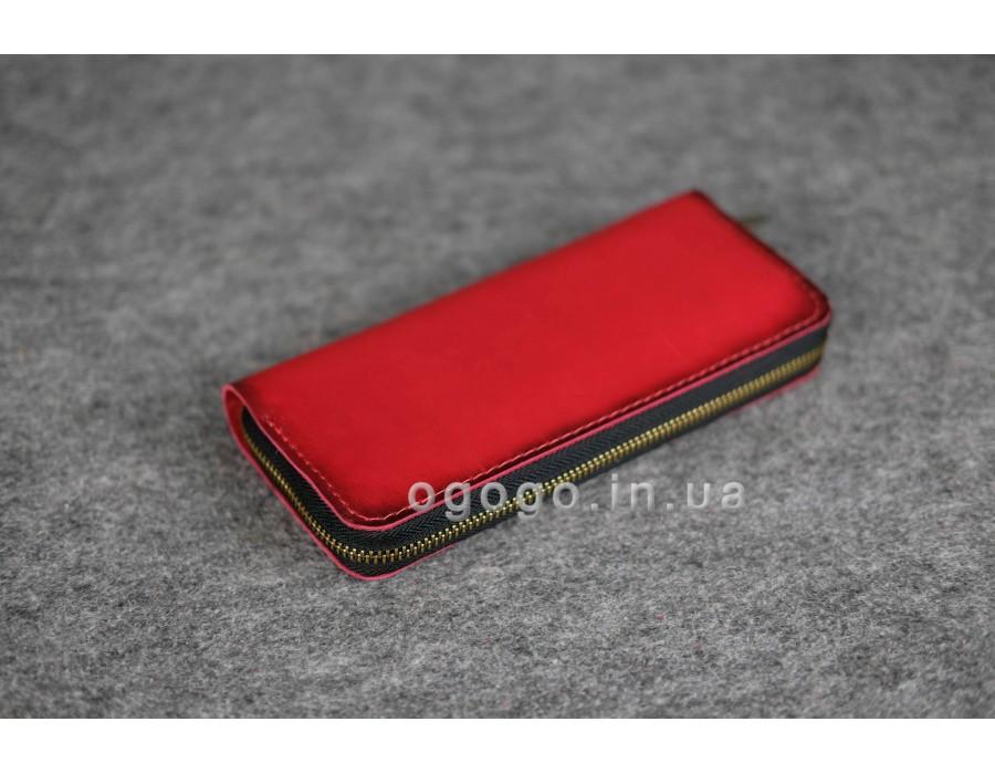 b560024211f1 Практичный красный кожаный кошелек K00035-9