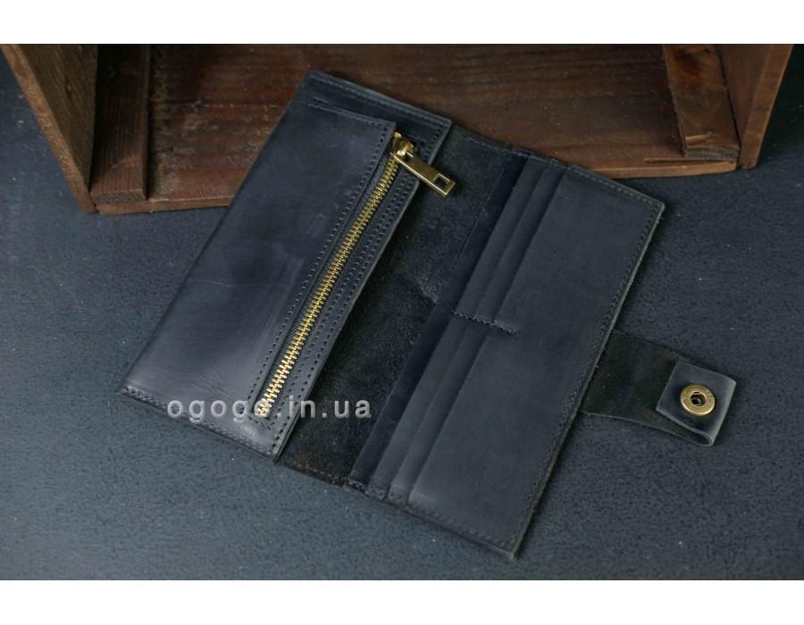 Черный кожаный кошелек K000036-12