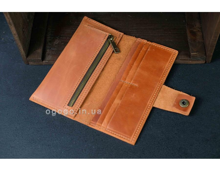Кожаный кошелек ручной работы унисекс K000036-5