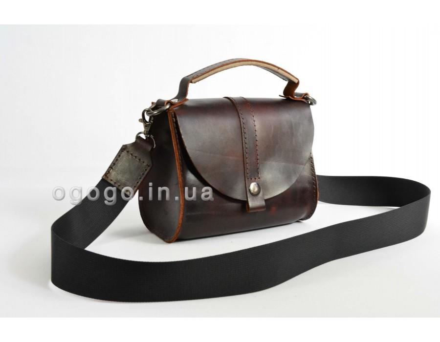 Небольшая кожаная сумочка через плечо K00038-6