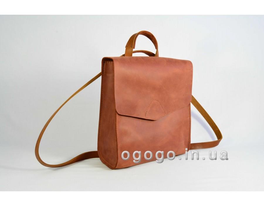 Кожаный рюкзак трансформер K00040-1