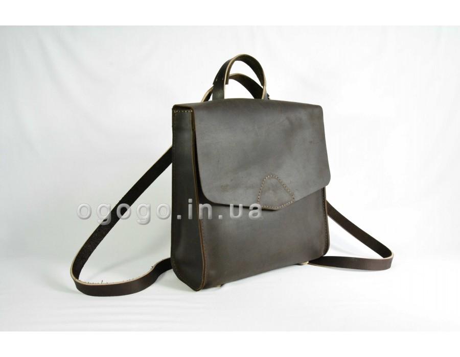 Рюкзак трансформер из натуральной кожи K00040-2