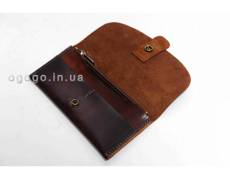Кожаный кошелек из итальянской кожи ручной работы K00043-8