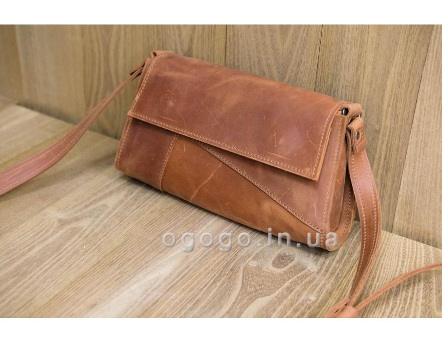 Кожаная женская сумка кемел K00046-4