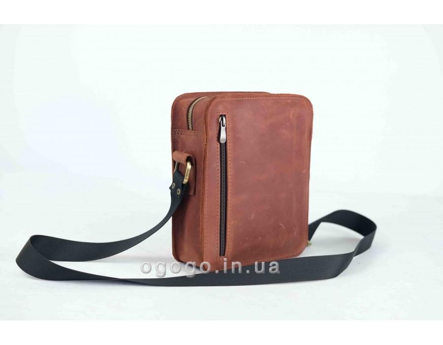 Небольшая кожаная мужская сумка K00048-1
