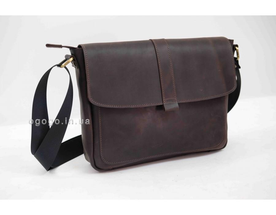 Горизонтальная мужская сумка из натуральной кожи K00050-2
