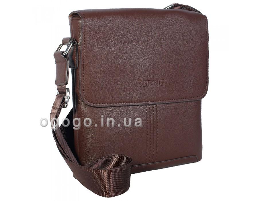 Классическая коричневая мужская сумка MS00165