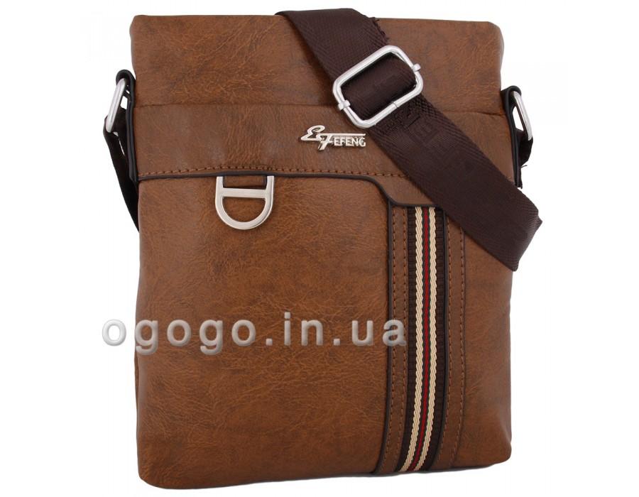 Рыжая мужская сумка без клапана MS00183