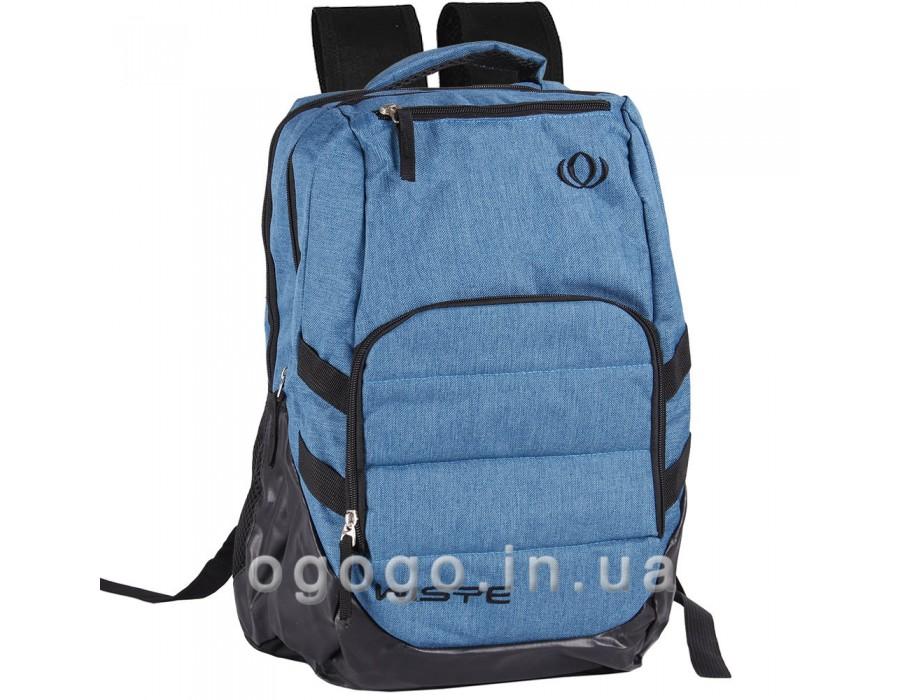 Недорогой спортивный рюкзак голубого цвета R00061