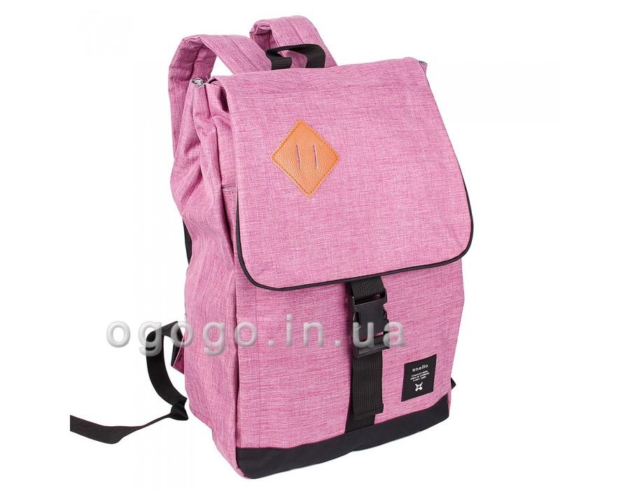 Розовый женский спортивный рюкзак с клапаном R00077