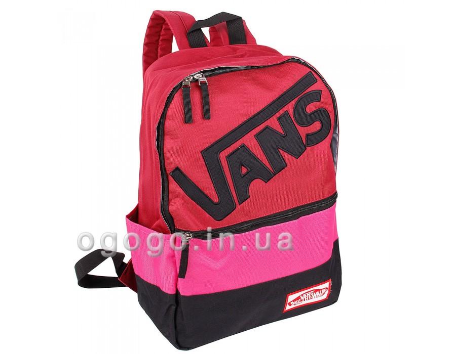 Красный женский рюкзак для спорта Vans R00081