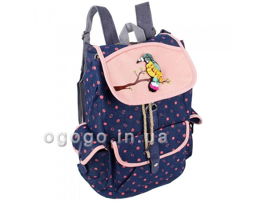 Джинсовый качественный рюкзак женский R00132