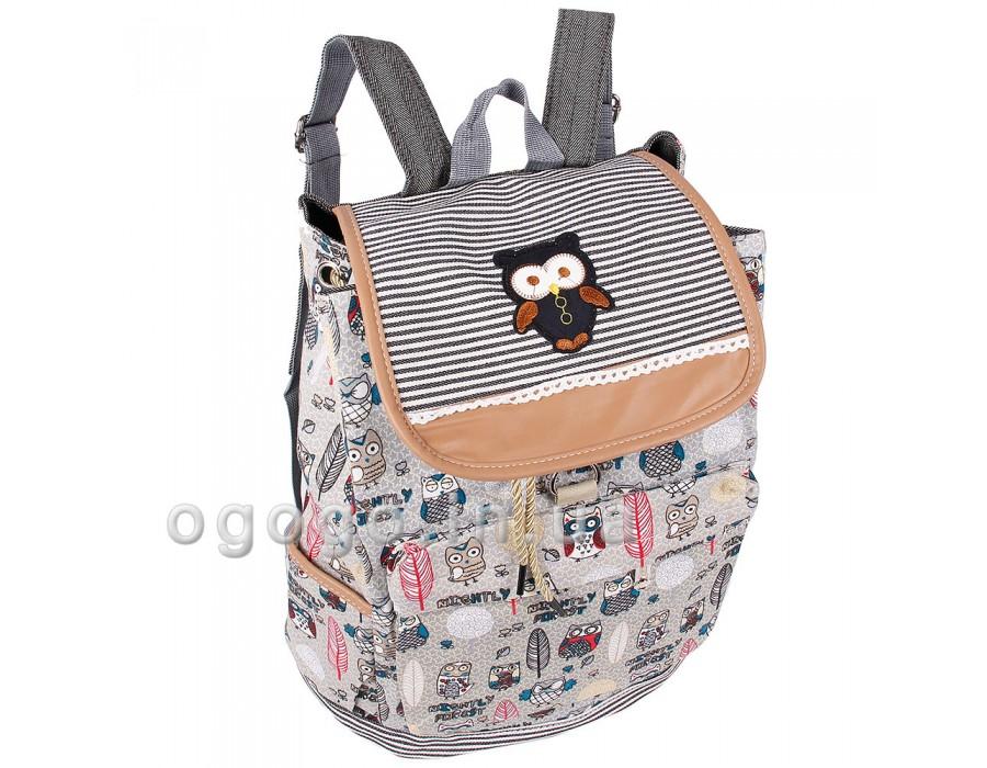 84c1e4a78106 Красивый женский тканевый рюкзак недорого R00134