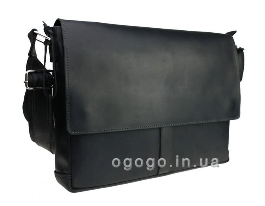 Кожаная мужская сумка формата А4 S00006-1
