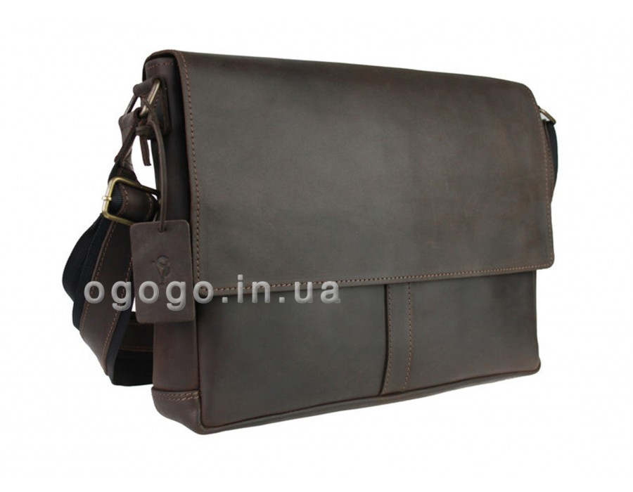 Кожаная мужская сумка формата А4 через плечо S00006-2