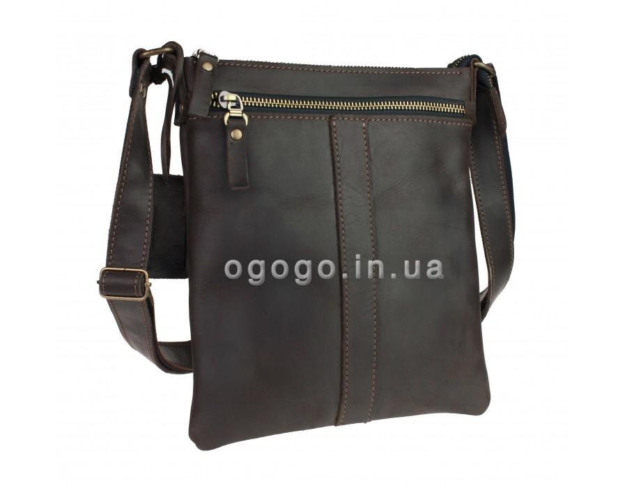 Кожаная мужская сумка на молнии S00007-1