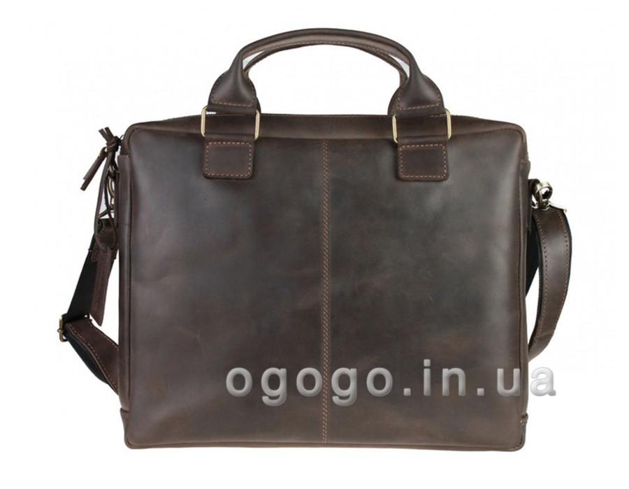 Коричневый кожаный портфель ручной работы S00008-1
