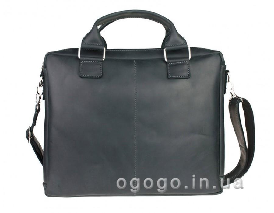 Черный кожаный деловой портфель S00008-2