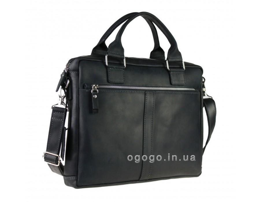 Кожаный мужской портфель с плечевым ремнем S00010-1