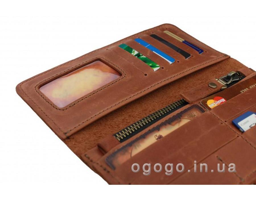 33a7f626801e Кожаный кошелек в два сложения S00014-3