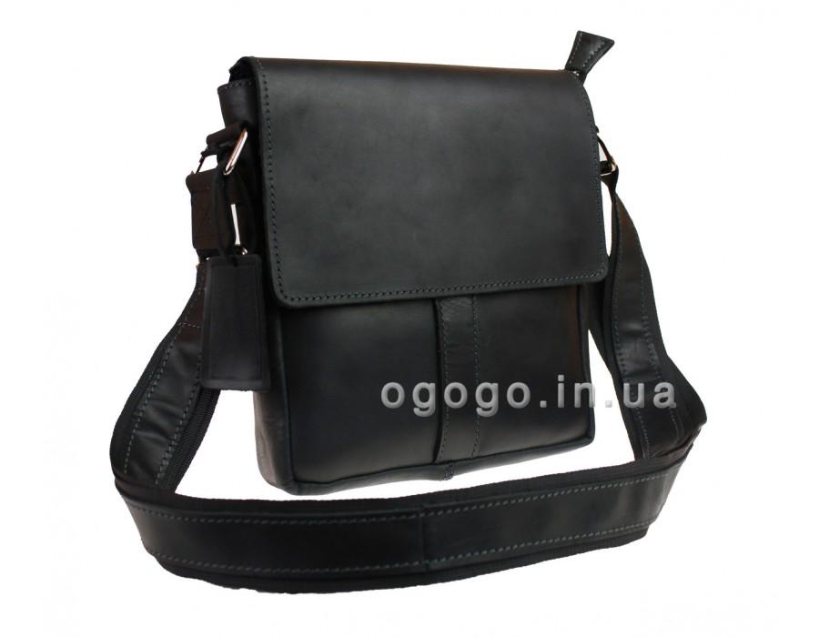 Мужская сумка черная кожа S00021-1