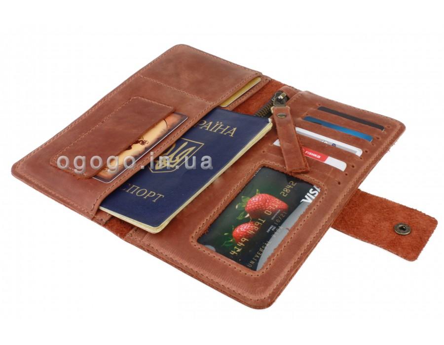 Кожаный кошелек camel S00022-3