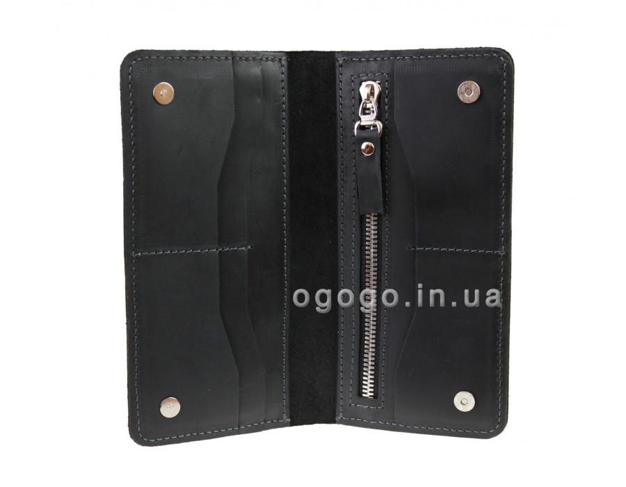 Черный кошелек ручной работы S00023-5