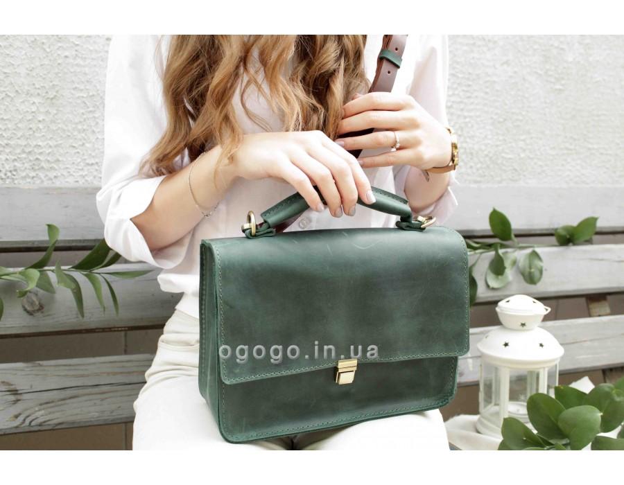 Женская кожаная деловая сумка T00003-1