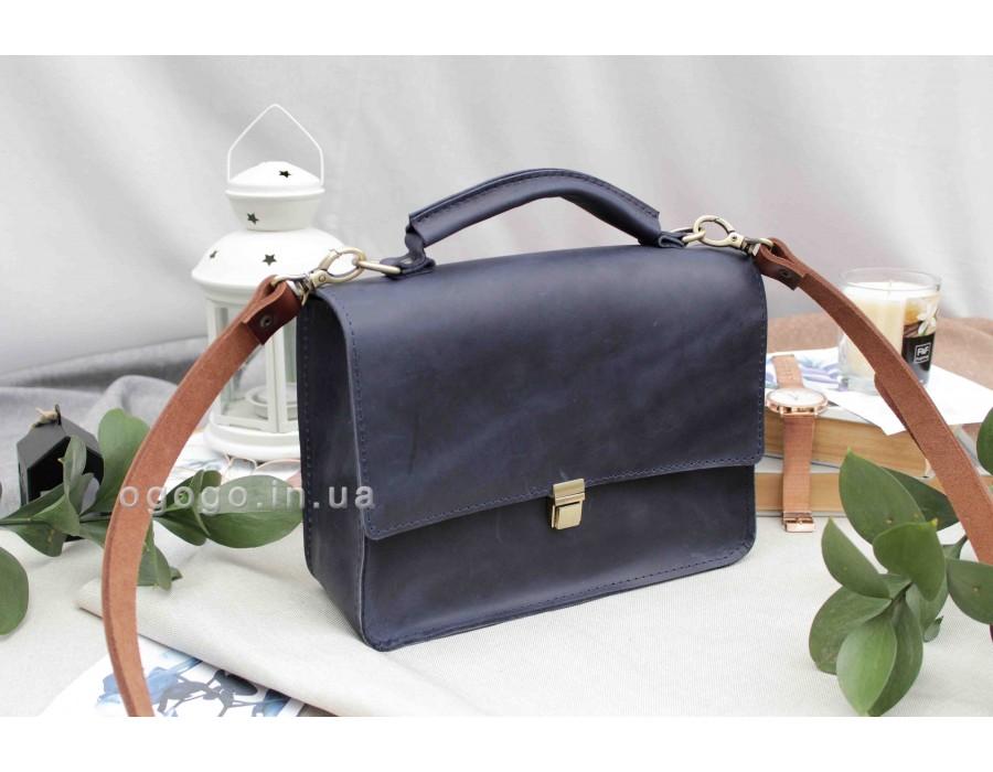 Кожаная женская сумка для деловой леди T00003-5