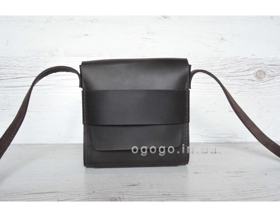 Женская сумочка из натуральной кожи цвет шоколад T00005-5