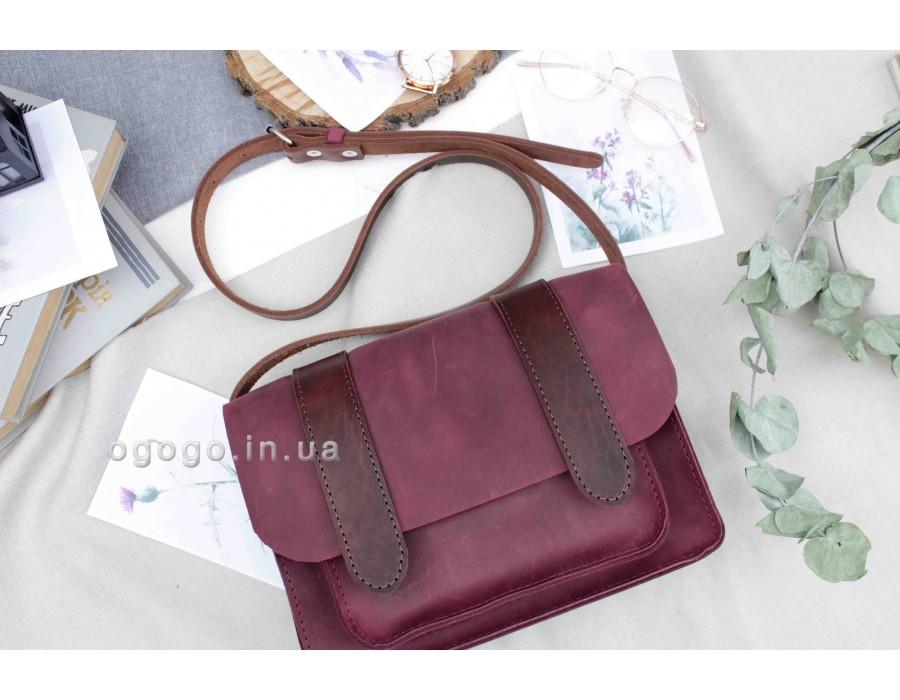Женская сумка из натуральной кожи бордо T00013-3