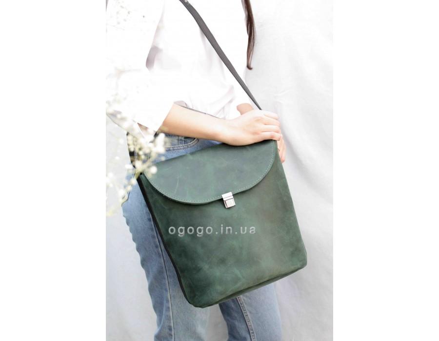 Вместительная кожаная сумка T00015-1
