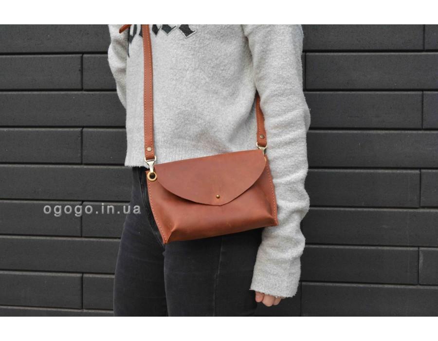 Женская сумка из натуральной кожи ручной работы T00016-3