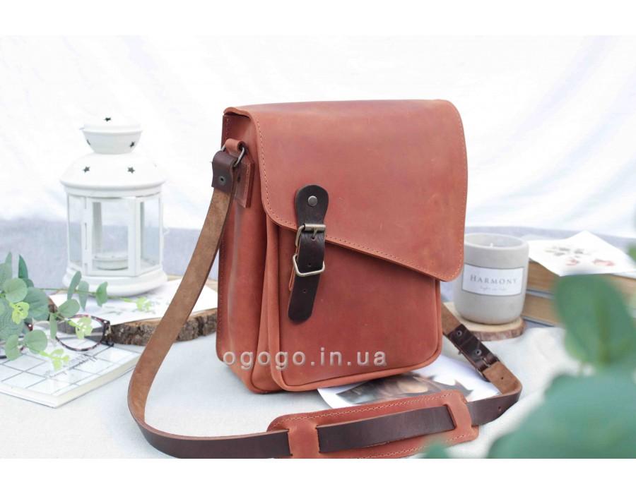 Мужская сумка из натуральной кожи ручной работы T00017-1
